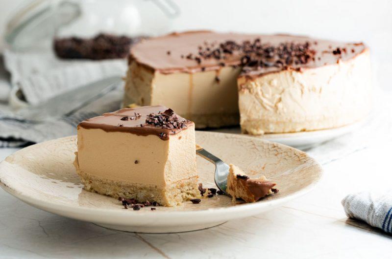 Cheesecake fría de café